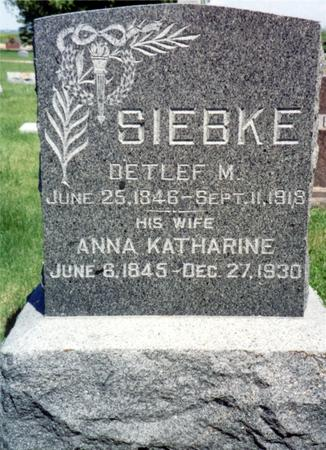SIEBKE, DETLEF  M. - Ida County, Iowa | DETLEF  M. SIEBKE