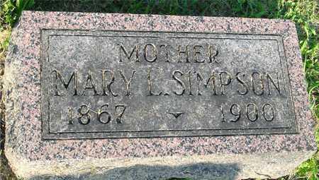 SIMPSON, MARY L. - Ida County, Iowa | MARY L. SIMPSON