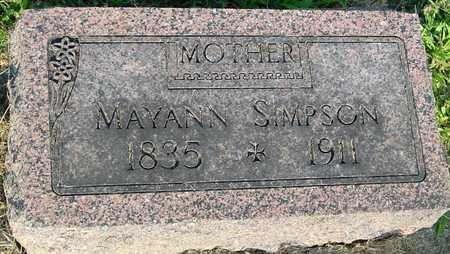 SIMPSON, MARYANN - Ida County, Iowa | MARYANN SIMPSON