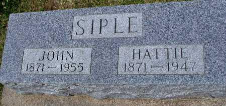 SIPLE, JOHN & HATTIE - Ida County, Iowa | JOHN & HATTIE SIPLE