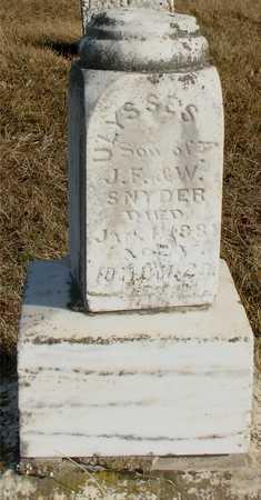 SNYDER, ULYSSES A. - Ida County, Iowa | ULYSSES A. SNYDER