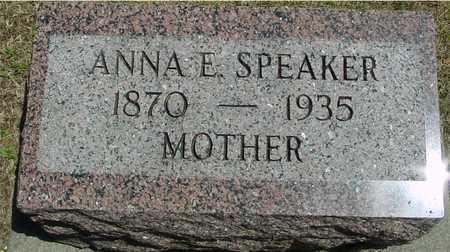 SPEAKER, ANNA E. - Ida County, Iowa | ANNA E. SPEAKER