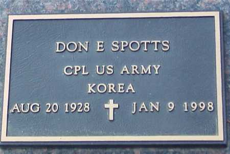 SPOTTS, DON E. - Ida County, Iowa | DON E. SPOTTS