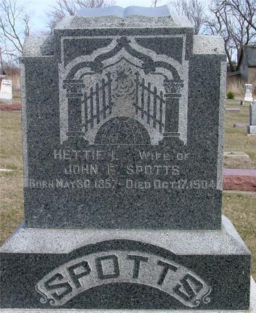 SPOTTS, HETTIE L. - Ida County, Iowa   HETTIE L. SPOTTS