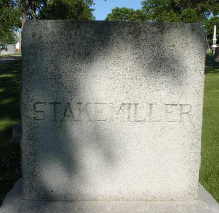 STAKEMILLER, FAMILY MARKER - Ida County, Iowa | FAMILY MARKER STAKEMILLER
