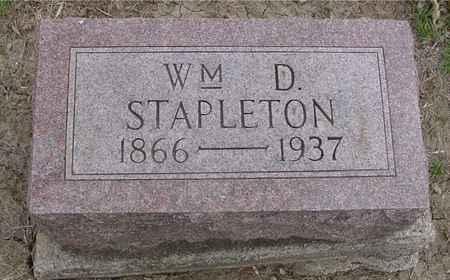 STAPLETON, WILLIAM D. - Ida County, Iowa   WILLIAM D. STAPLETON