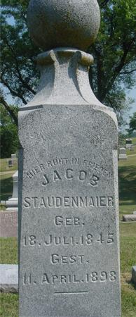 STAUDENMAIER, JACOB - Ida County, Iowa   JACOB STAUDENMAIER