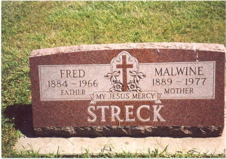 STRECK, FRED & MALWINE - Ida County, Iowa   FRED & MALWINE STRECK