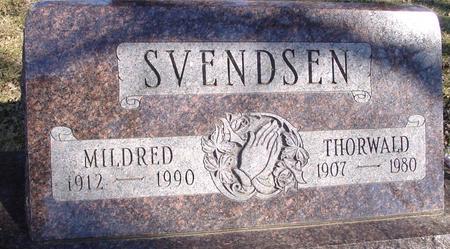 SVENDSEN, THORWALD & MILDRED - Ida County, Iowa   THORWALD & MILDRED SVENDSEN