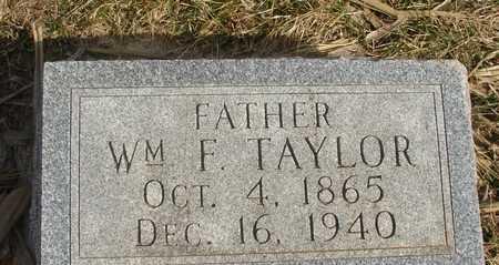 TAYLOR, WILLIAM F. - Ida County, Iowa   WILLIAM F. TAYLOR