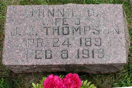 THOMPSON, MINNIE - Ida County, Iowa | MINNIE THOMPSON