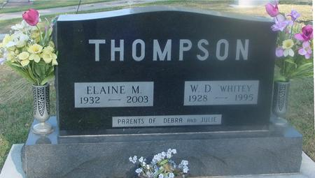 THOMPSON, W. D. & ELAINE M. - Ida County, Iowa | W. D. & ELAINE M. THOMPSON