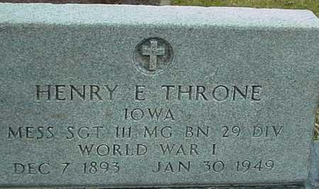 THRONE, HENRY E. - Ida County, Iowa | HENRY E. THRONE