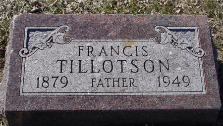TILLOTSON, FRANCIS - Ida County, Iowa   FRANCIS TILLOTSON