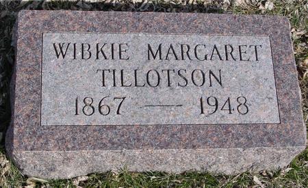 TILLOTSON, WIBKIE MARGARET - Ida County, Iowa   WIBKIE MARGARET TILLOTSON