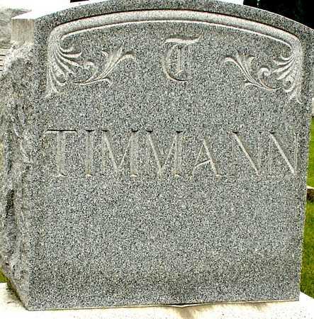 TIMMANN, FAMILY MARKER - Ida County, Iowa | FAMILY MARKER TIMMANN