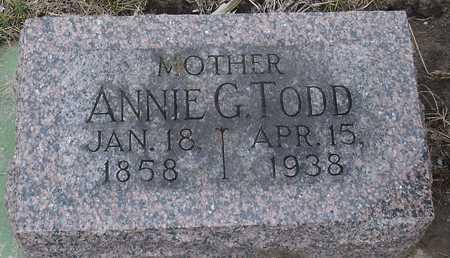 TODD, ANNIE G. - Ida County, Iowa   ANNIE G. TODD