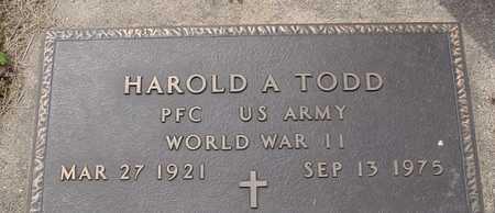 TODD, HAROLD A. - Ida County, Iowa   HAROLD A. TODD