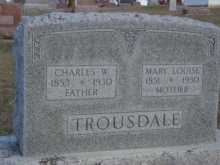 TROUSDALE, MARY LOUISE - Ida County, Iowa | MARY LOUISE TROUSDALE