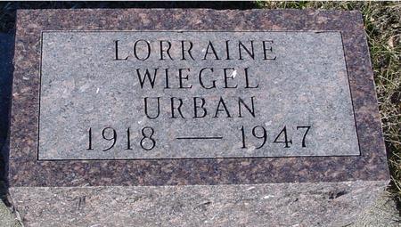 WIEGEL URBAN, LORRAINE - Ida County, Iowa | LORRAINE WIEGEL URBAN
