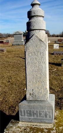 USHER, LESTER - Ida County, Iowa   LESTER USHER