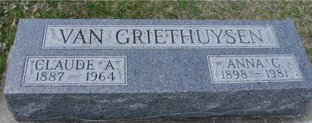 VAN GRIETHUYSEN, CLAUDE & ANNA - Ida County, Iowa | CLAUDE & ANNA VAN GRIETHUYSEN