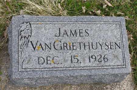 VAN GRIETHUYSEN, JAMES - Ida County, Iowa   JAMES VAN GRIETHUYSEN