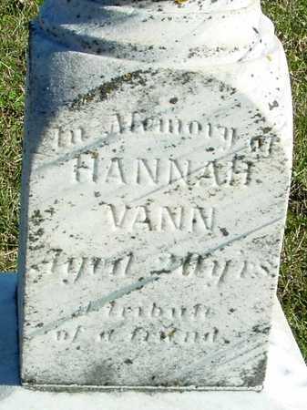 VANN, HANNAH - Ida County, Iowa   HANNAH VANN