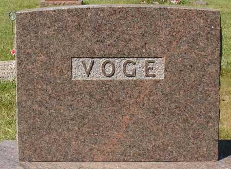 VOGE, FAMILY MARKER - Ida County, Iowa   FAMILY MARKER VOGE