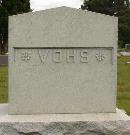 VOHS, FAMILY MARKER - Ida County, Iowa   FAMILY MARKER VOHS