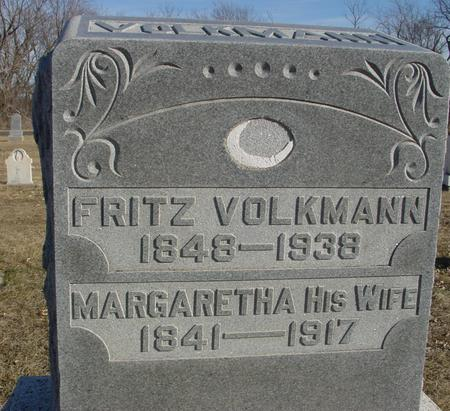 VOLKMANN, MARGARETHA - Ida County, Iowa   MARGARETHA VOLKMANN