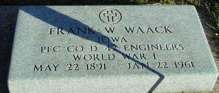 WAACK, FRANK - Ida County, Iowa   FRANK WAACK