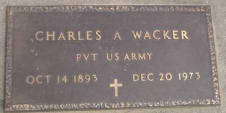 WACKER, CHARLES A. - Ida County, Iowa   CHARLES A. WACKER
