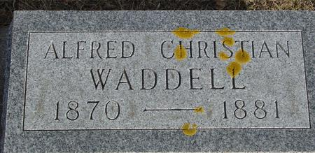 WADDELL, ALFRED CHRISTIAN - Ida County, Iowa   ALFRED CHRISTIAN WADDELL