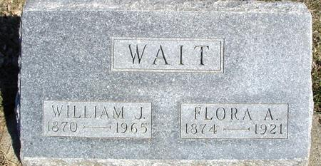 WAIT, WILLIAM J. & FLORA - Ida County, Iowa   WILLIAM J. & FLORA WAIT