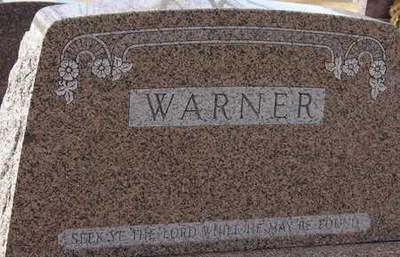 WARNER, FAMILY MARKER - Ida County, Iowa   FAMILY MARKER WARNER