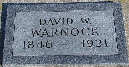 WARNOCK, DAVID W. - Ida County, Iowa   DAVID W. WARNOCK
