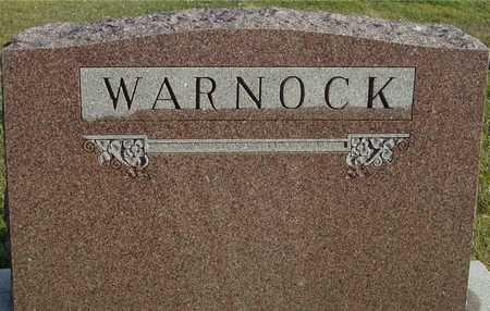 WARNOCK, FAMILY MARKER - Ida County, Iowa   FAMILY MARKER WARNOCK