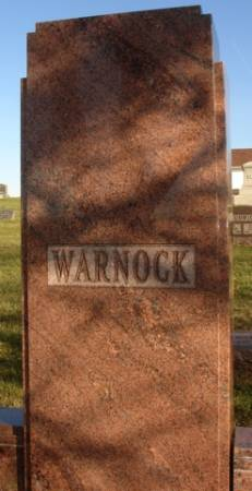 WARNOCK, MARKER - Ida County, Iowa | MARKER WARNOCK