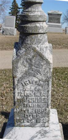 WARRINER, IRWIN - Ida County, Iowa   IRWIN WARRINER