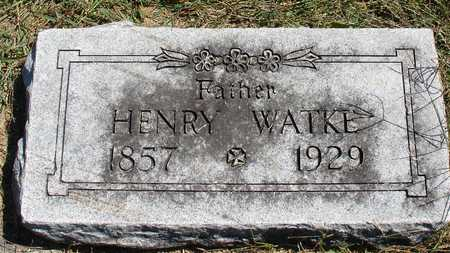 WATKE, HENRY - Ida County, Iowa   HENRY WATKE