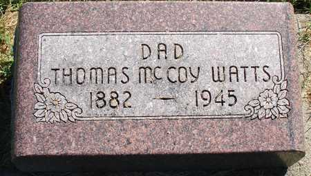 WATTS, THOMAS MCCOY - Ida County, Iowa | THOMAS MCCOY WATTS