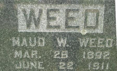 WEED, MAUD  W. - Ida County, Iowa   MAUD  W. WEED