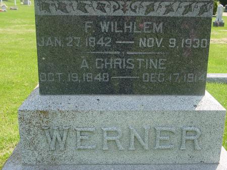 WERNER, F. WILHELM - Ida County, Iowa | F. WILHELM WERNER