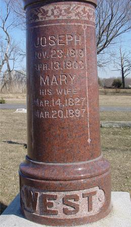 WEST, JOSEPH & MARY - Ida County, Iowa   JOSEPH & MARY WEST