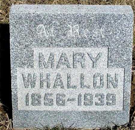 WHALLON, MARY - Ida County, Iowa | MARY WHALLON