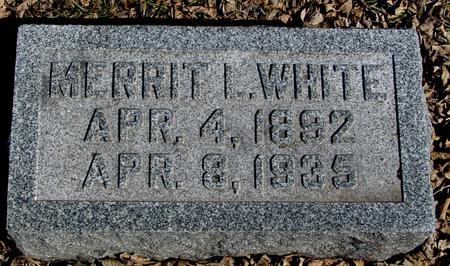 WHITE, MERRIT L. - Ida County, Iowa   MERRIT L. WHITE