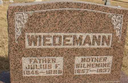 WIEDEMANN, WILHEMINE - Ida County, Iowa   WILHEMINE WIEDEMANN