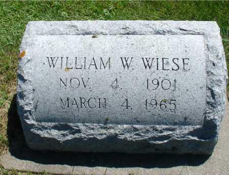 WIESE, WILLIAM W, - Ida County, Iowa   WILLIAM W, WIESE