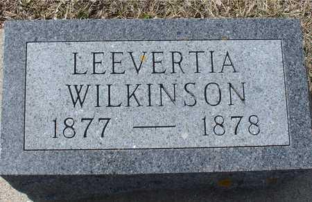 WILKINSON, LEEVERTIA - Ida County, Iowa   LEEVERTIA WILKINSON